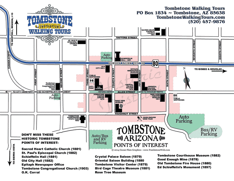Map of Tombstone