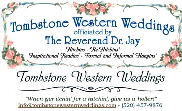 Tombstone Arizona Weddings